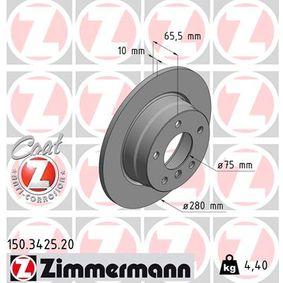 Bremsscheibe 150.3425.20 1 Schrägheck (E87) 118d 2.0 Bj 2009