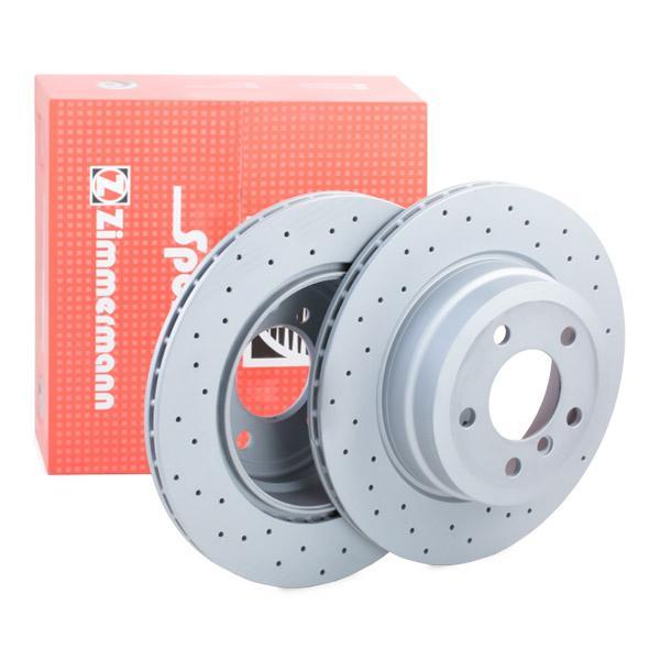320 X 20 mm Brake Disc Zimmermann 150-3450-20 34 21 6 886 479