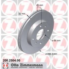Bremsscheibe Ø: 257mm mit OEM-Nummer 4020671E00