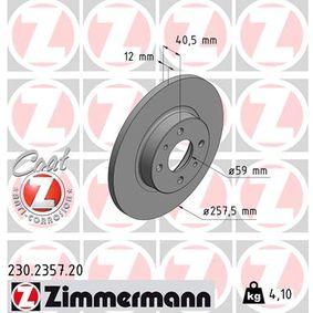 ZIMMERMANN спирачен диск (230.2357.20) за с ОЕМ-номер 51859075