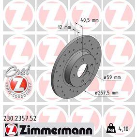 Brake Disc 230.2357.52 PUNTO (188) 1.2 16V 80 MY 2004