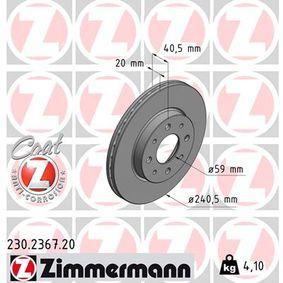 Bremsscheibe Art. Nr. 230.2367.20 120,00€