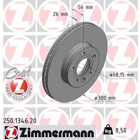 Bremsscheibe Bremsscheibendicke: 26mm, Felge: 5-loch, Ø: 300mm mit OEM-Nummer 1141782