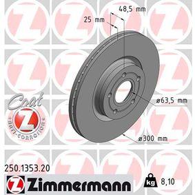 Bremsscheibe 250.1353.20 KUGA 2 (DM2) 2.0 TDCi 4x4 Bj 2018