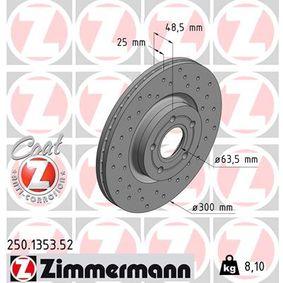 Bremsscheibe 250.1353.52 KUGA 2 (DM2) 2.0 TDCi 4x4 Bj 2016
