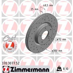 Brake Disc Brake Disc Thickness: 25mm, Rim: 5-Hole, Ø: 300mm with OEM Number C26Y3-32-5XD