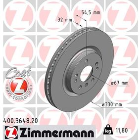 Спирачен диск 400.3648.20 M-класа (W164) ML 320 CDI 3.0 4-matic (164.122) Г.П. 2005