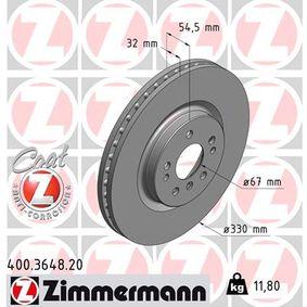 Спирачен диск 400.3648.20 M-класа (W164) ML 320 CDI 3.0 4-matic (164.122) Г.П. 2007