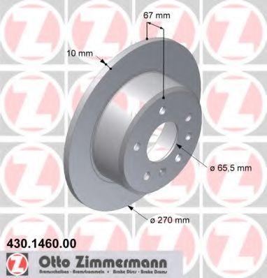 ZIMMERMANN  430.1460.00 Bremsscheibe Ø: 270mm