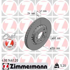 Bremsscheibe Bremsscheibendicke: 24mm, Felge: 4-loch, Ø: 256mm mit OEM-Nummer 569042