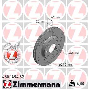 Bremsscheibe Art. Nr. 430.1494.52 120,00€