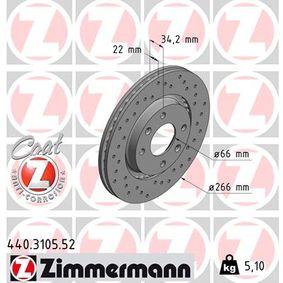Bremsscheibe Ø: 266mm mit OEM-Nummer 4246-W7