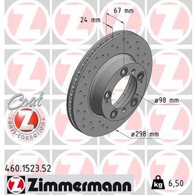 Bremsscheibe Ø: 298mm mit OEM-Nummer 98635140105