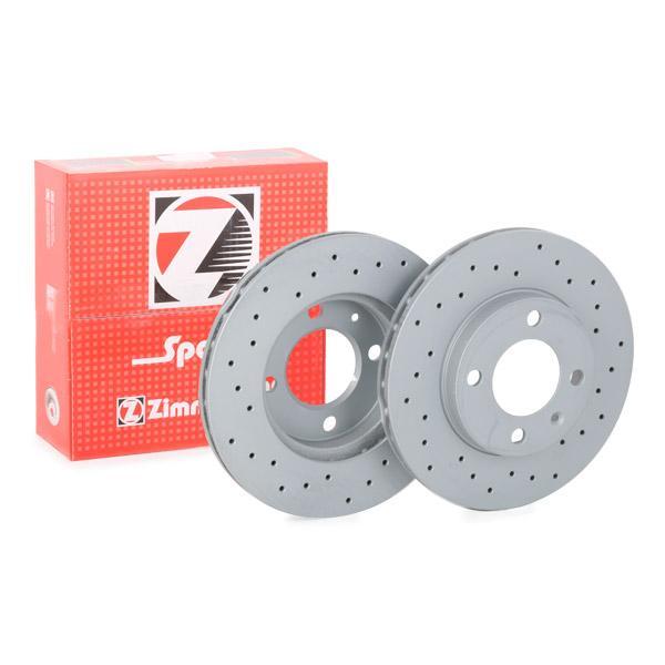 ZIMMERMANN SPORT COAT Z 600.1594.52 Bremsscheibe Bremsscheibendicke: 20mm, Lochanzahl: 4, Ø: 239mm