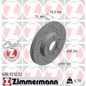 Bremsscheibe Ø: 280mm mit OEM-Nummer 7D0615301A