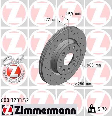 Προϊόν № 600.3233.52 ZIMMERMANN τιμές