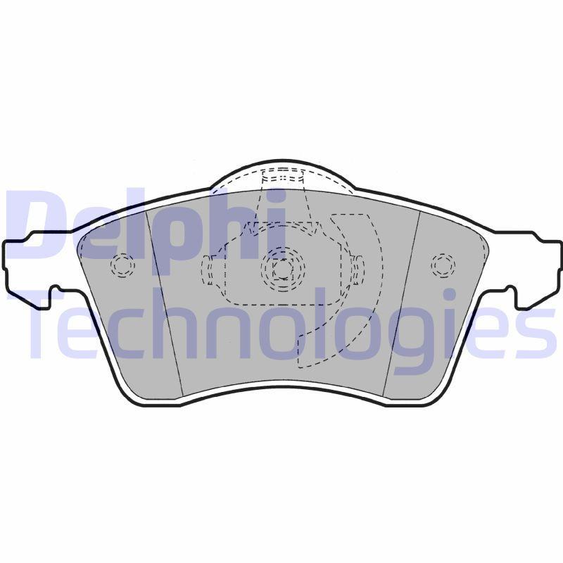 DELPHI  LP1092 Bremsbelagsatz, Scheibenbremse Höhe: 68mm, Dicke/Stärke 1: 20mm