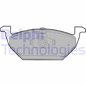 Bremsbelagsatz, Scheibenbremse Höhe 2: 55mm, Höhe: 55mm, Dicke/Stärke 1: 20mm, Dicke/Stärke 2: 20mm mit OEM-Nummer 1J0 698 151