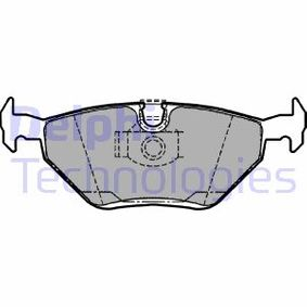 Bremsbelagsatz, Scheibenbremse Höhe: 45mm, Dicke/Stärke 2: 17mm mit OEM-Nummer 3421 6761 281