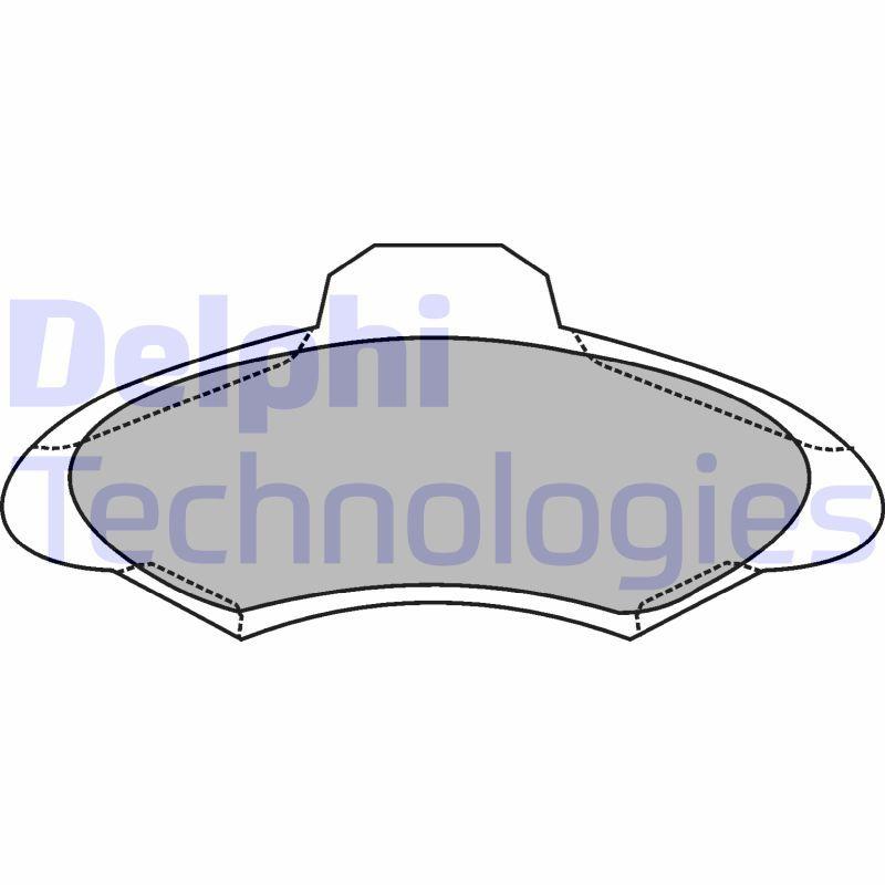 DELPHI  LP1139 Bremsbelagsatz, Scheibenbremse Höhe: 57mm, Dicke/Stärke 1: 18mm