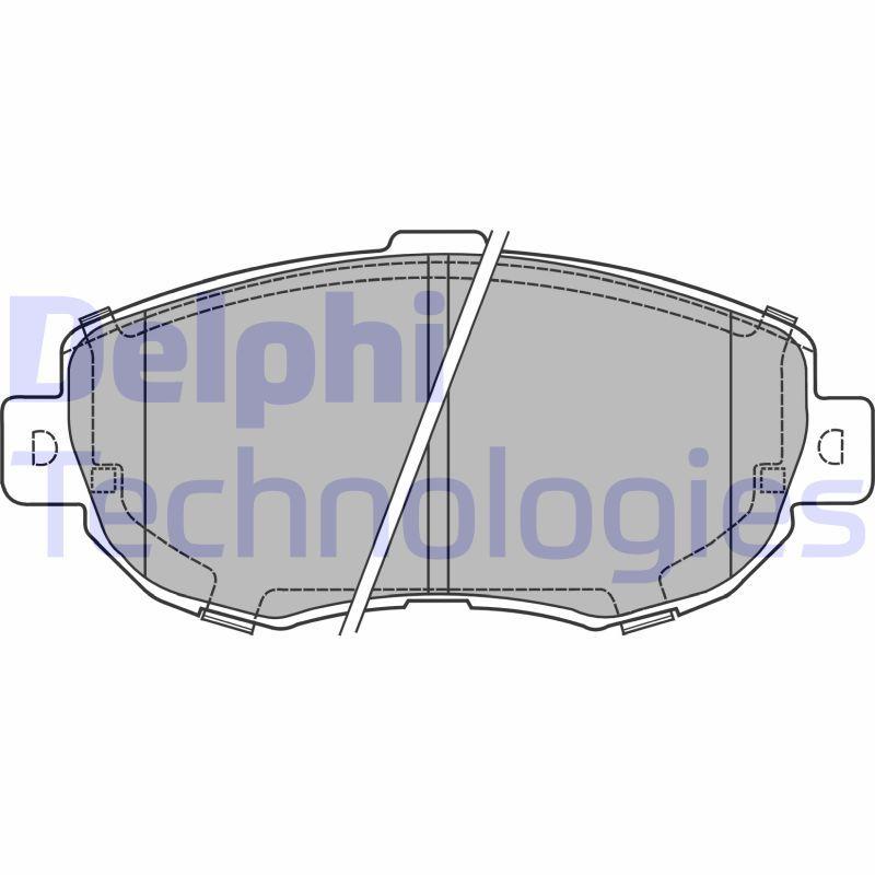 DELPHI  LP1140 Bremsbelagsatz, Scheibenbremse Höhe: 64mm, Dicke/Stärke 1: 16mm