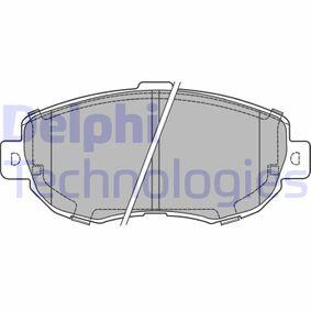 Bremsbelagsatz, Scheibenbremse Höhe: 64mm, Dicke/Stärke 2: 16mm mit OEM-Nummer 04465-22311