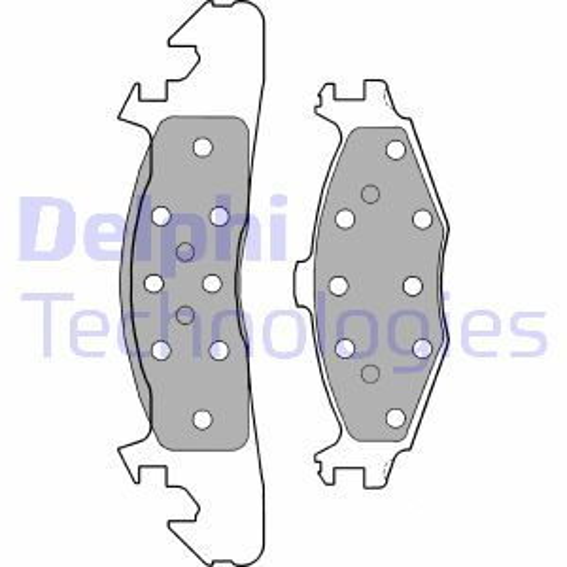 DELPHI  LP1163 Bremsbelagsatz, Scheibenbremse Höhe 2: 60mm, Höhe: 56mm, Dicke/Stärke 1: 18mm, Dicke/Stärke 2: 18,0mm