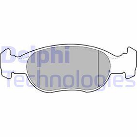 Brake Pad Set, disc brake LP1385 PUNTO (188) 1.2 16V 80 MY 2004