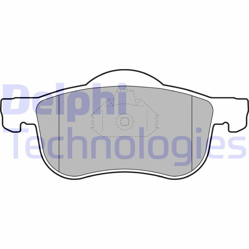 DELPHI  LP1458 Brake Pad Set, disc brake Height 2: 72mm, Height: 69mm, Thickness 1: 18mm, Thickness 2: 18mm