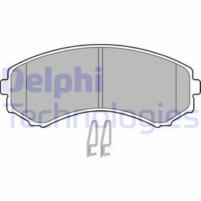 Brake Pad Set, disc brake Article № LP1462 £ 150,00