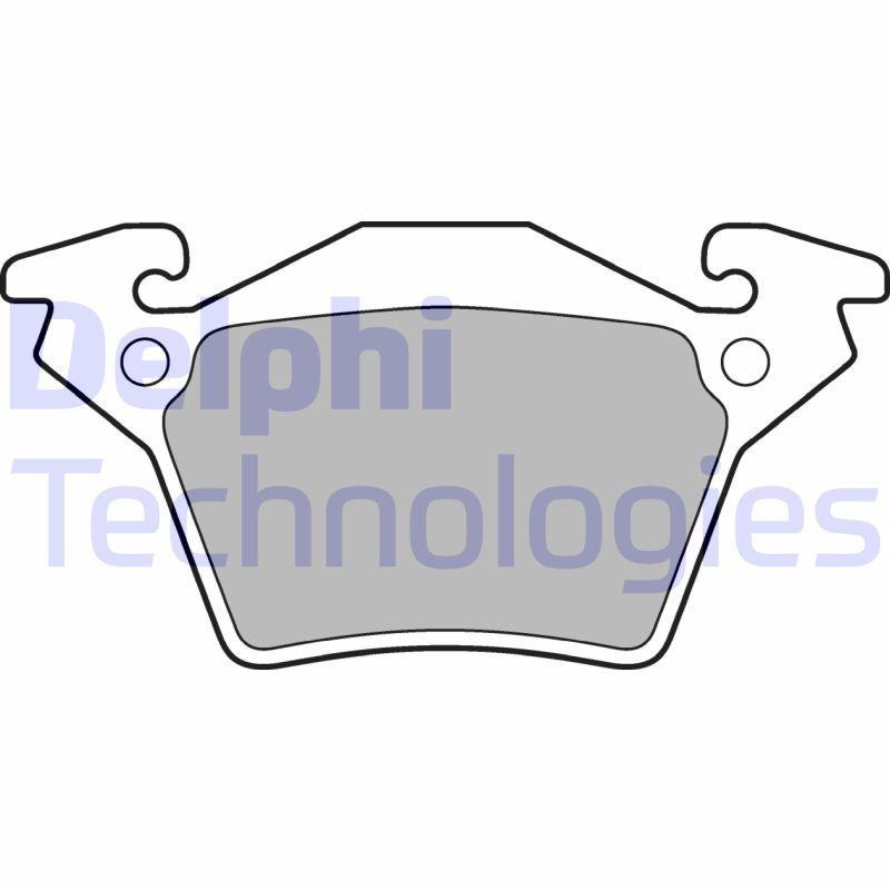 DELPHI  LP1471 Bremsbelagsatz, Scheibenbremse Höhe: 53mm, Dicke/Stärke 1: 18mm