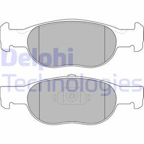 Brake Pad Set, disc brake LP1474 PUNTO (188) 1.2 16V 80 MY 2002