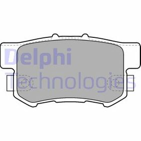 Brake Pad Set, disc brake Height 2: 47mm, Height: 47mm with OEM Number 43022S9AE52