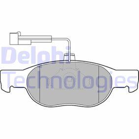 Brake Pad Set, disc brake LP1585 PUNTO (188) 1.2 16V 80 MY 2002