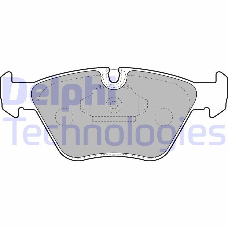 DELPHI  LP1608 Bremsbelagsatz, Scheibenbremse Höhe: 64mm, Dicke/Stärke 1: 20mm