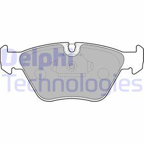 Bremsbelagsatz, Scheibenbremse Breite 1: 155mm, Breite 2: 156mm, Höhe 1: 64mm, Höhe 2: 64mm, Dicke/Stärke 1: 20mm, Dicke/Stärke 2: 20mm mit OEM-Nummer 3411 6 761 280
