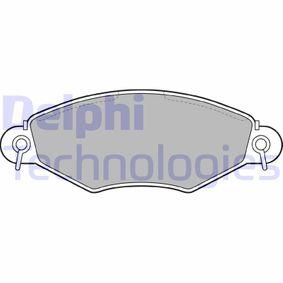 Bremsbelagsatz, Scheibenbremse Höhe: 47mm, Dicke/Stärke 2: 17mm mit OEM-Nummer 1720.82