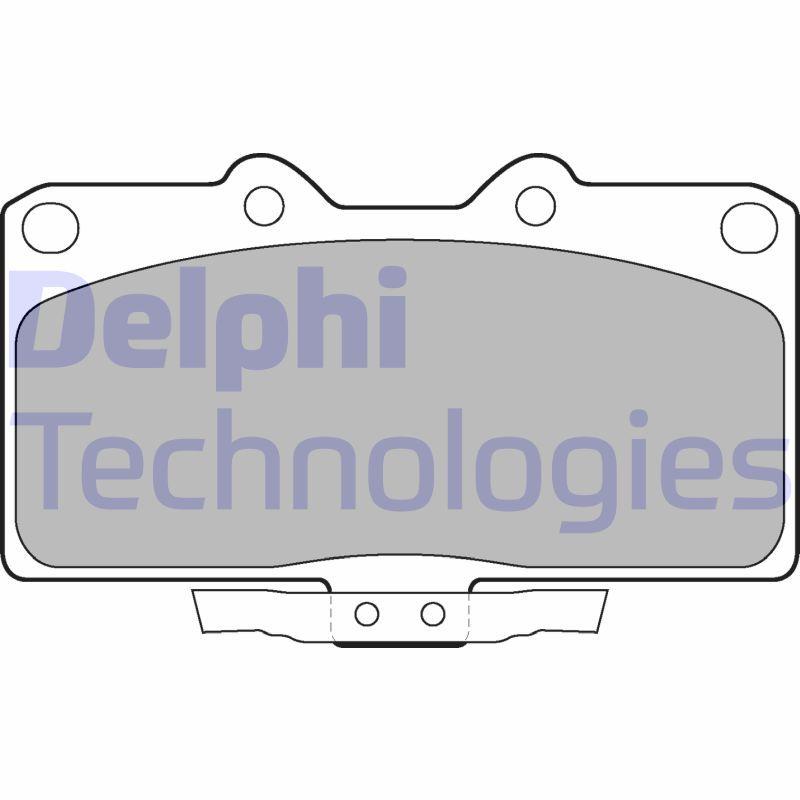 DELPHI  LP1662 Bremsbelagsatz, Scheibenbremse Höhe 2: 65mm, Höhe: 75mm, Dicke/Stärke 1: 14mm, Dicke/Stärke 2: 14mm