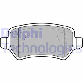 Brake Pad Set, disc brake LP1681 Astra Mk5 (H) (A04) 1.6 MY 2009