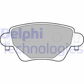 Renault Kangoo KC 1.6 16V bivalent Bremsbeläge DELPHI LP1682 (1.6 16V bivalent Benzin/Erdgas (CNG) 2020 K4M 850)