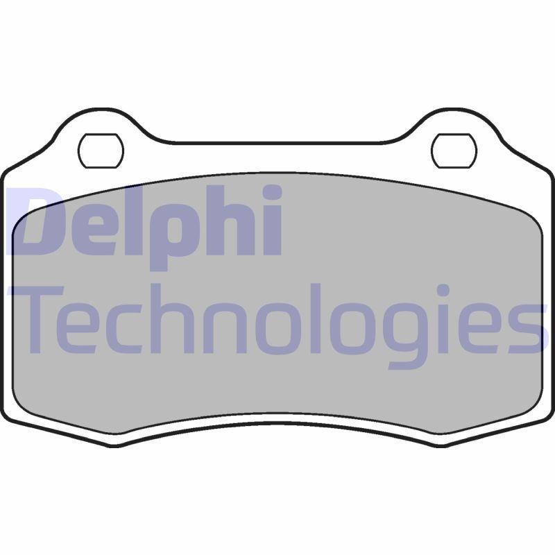 DELPHI  LP1700 Bremsbelagsatz, Scheibenbremse Höhe 2: 69mm, Höhe: 69mm, Dicke/Stärke 1: 15mm, Dicke/Stärke 2: 15mm