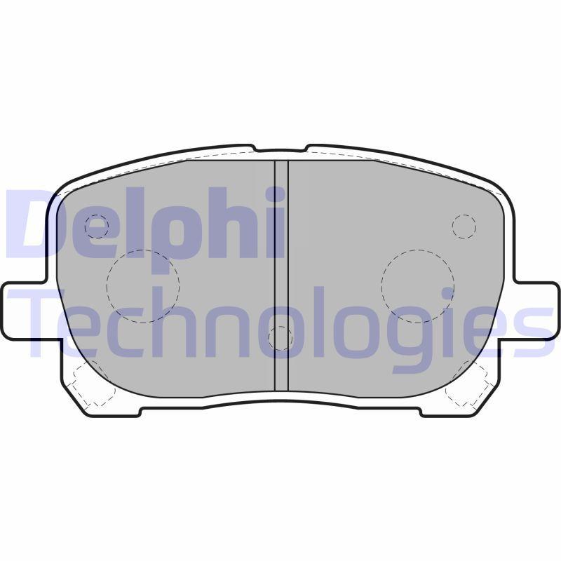DELPHI  LP1711 Brake Pad Set, disc brake Height 2: 60mm, Height: 60mm, Thickness 1: 17mm, Thickness 2: 17mm