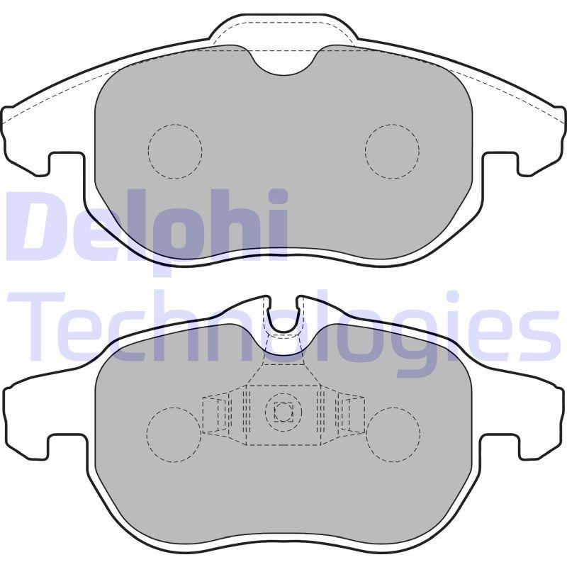 DELPHI  LP1723 Brake Pad Set, disc brake Height 2: 71mm, Height: 70mm, Thickness 1: 20mm, Thickness 2: 20mm