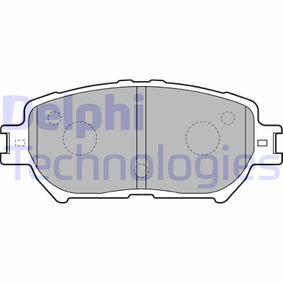Bremsbelagsatz, Scheibenbremse Höhe: 58mm, Dicke/Stärke 2: 17mm mit OEM-Nummer 04465-33250