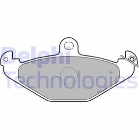 Bremsbelagsatz, Scheibenbremse Höhe 2: 58mm, Höhe: 58mm, Dicke/Stärke 1: 12mm, Dicke/Stärke 2: 12mm mit OEM-Nummer 6002446