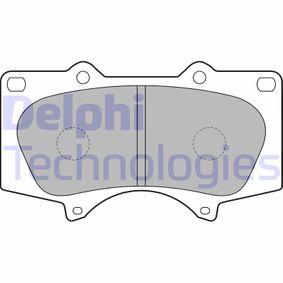DELPHI  LP1782 Bremsbelagsatz, Scheibenbremse Höhe: 77,05mm, Dicke/Stärke 1: 17,8mm