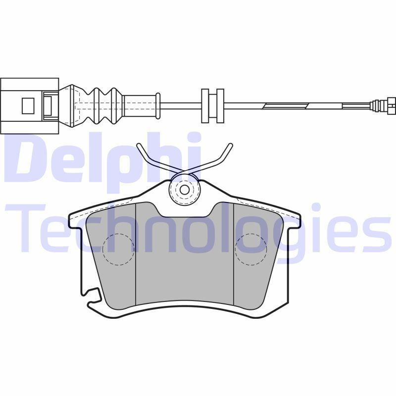 DELPHI  LP1815 Bremsbelagsatz, Scheibenbremse Höhe: 53mm, Dicke/Stärke 1: 17mm