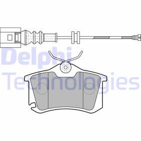 Bremsbelagsatz, Scheibenbremse Höhe: 53mm, Dicke/Stärke 2: 17mm mit OEM-Nummer 6Q0698451