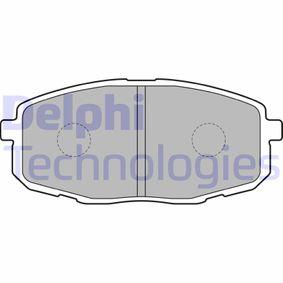 2012 Kia Ceed SW ED 1.6 CRDi 115 Brake Pad Set, disc brake LP1819