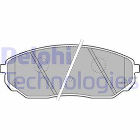 2021 KIA Sorento jc 2.5 CRDi Brake Pad Set, disc brake LP1849